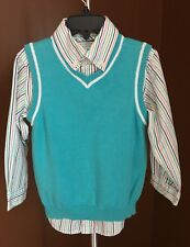 The Childrens Place Boys Button Down Shirt & Sleeveless Sweater Vest Set-Size 4T