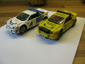 1980s Scalextric RS200 Rally Cars X 2