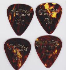 New listing 4 1970s Martin Medium Tortoise Shell Celluloid Guitar Picks Gold Stamp Logo