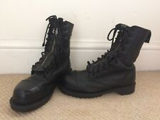 LADIES VINTAGE GETTA GRIP DR MARTENS LEATHER BOOTS SIZE 5 38 CHUNKY ZIPPER