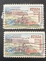 Lot Of 2, 1964 Five Cent Stamp Nevada Statehood Used Stamps