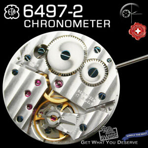 MOVEMENT ETA UNITAS 6497-2  TOP GRADE CHRONOMETER, SMALL SECOND 9H, NEW
