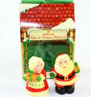 Vintage Hallmark SANTA & MRS. CLAUS Salt & Pepper Shakers Original Box