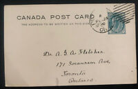 1900 Peterboro Canada Stationery postcard Cover To Toronto