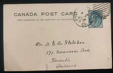 1900 Peterboro Canada Stationery postcard Cover To Toronto