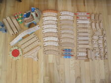 WOODEN TRAIN TRACK INCL. WATERFALL MOUNTAIN NO CARS WORKS WITH THOMAS LOT 70 PC
