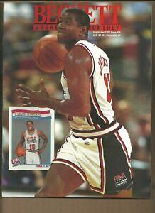 Beckett Basketball Monthly Magazine Magic Johnson September 1992