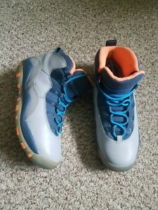 Boys Air Jordan Shoes –Size 6.5Y preowned Gray/Blue