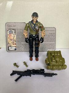 Vintage G I Joe Action Force Cobra Tunnel Rat Hasbro 1987 Incomplete File Card