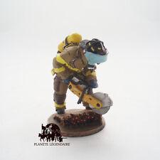 Figurine Del Prado plomb soldat Pompier Tenue de Feu Etat New York 2003
