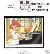 ST. VINCENT # 991 MNH DISNEY OLIVER & COMPANY