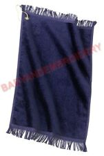 1 New Golf Tennis Hand Dish Towel Navy Blue Hook and Grommet