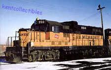 """Milwaukee Road """"GP20"""", nee GP9 diesel locomotive train railroad postcard"""
