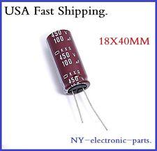 2x 100uf 450v NCC Radial Electrolytic Capacitor 18x40mm KXG 450v100uf