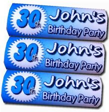 12 x Personalised Wrappers Chocolate Bars Birthday Favours 18th 21st 30th 40th