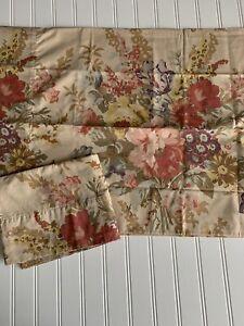 Ralph Lauren Kirsten Floral PAIR Pillowcases Elegant Fresco Style Standard