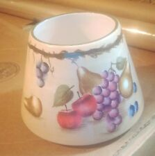 Vintage Home Interior Candle Shade with fruits, apples, grapes, pears, blueberry