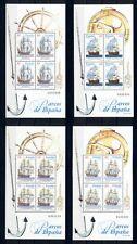 Sailing Ships Boats Sea Transport Spain MNH stamp set 4 sheets