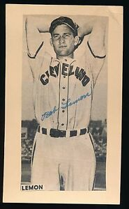 BOB LEMON (1941-1958 Cleveland Indians) -Autograph 3x5 GPC (d.2000) *HOF*