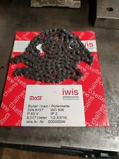 Iwis 1/2 x 3/16 Chain 111pins with connecting link and half link