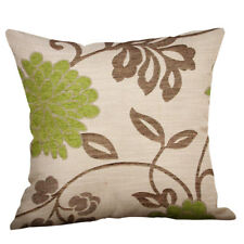 """Green Lime Natural Cream Cushion Covers 18"""" x 18"""" /45cm x 45cm Cover-Collection'"""