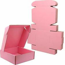 Lmuze Small Pink Shipping Boxes For Small Business Pack Of 25 6x6x2 Inches