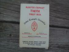 VINTAGE ALEISTER CROWLEY THOTH TAROT CARDS ~ FULL 78 CARD DECK ~ BELGIUM PRINTED