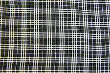 Tartan Black Balmoral Check Dress Fabric Polyviscose 150cm Wide  FREE P+P