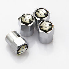 4 X Silber Chrom Reifen Ventil Staubkappen (Passt Suzuki) - Schwarz