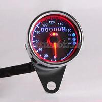 Universal Motorcycle Odometer Speedometer Gauge LED Backlight Signal New
