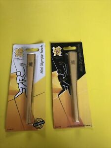 London 2012 Mini Olympic Olympics Torch 1st & 2nd Limited Edition NEW & SEALED