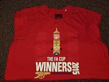 Arsenal Gooner Two sided 12 FA Cup Wins Men's L Large 100% Cotton 2015