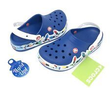 Crocs CrocsLights Holiday Light Up Clog Toddler Size 9 or 10 Blue Jean NEW