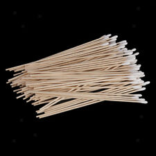 "Bulk of 100 Wood Stick Cotton Swabs Buds Cleaning Tool Medical Kit 6"" Long"