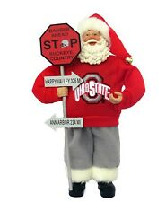 Ohio State Buckeyes Santa Figure Ncaa College Sports Fan Christmas Dorm Decor
