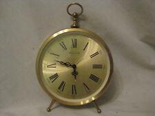 vintage BULOVA clock Roman numeral Japan gold-tone mantle stop watch style