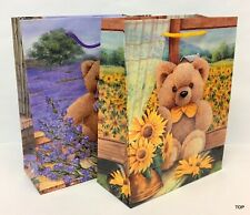 Gift Bag 47549 Teddy Paper Bag Gift Bag Birthday 18 x 23 X 8 CM