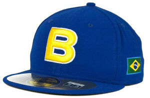Brazil Men's New Era 59FIFTY World Baseball Classic Fitted Hat Cap - Blue
