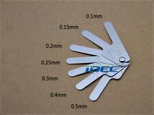 High precision feeler gauge measuring gap metric ruler 150mmx14pcs 0.05mm-1.0mm