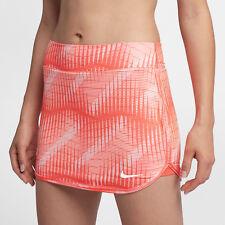 Nike 888172 880 Court Ready Comfort Women's Tennis Skirt Orange /white Med NWT