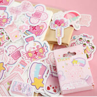 46pcs/set Cute Kawaii Scrapbooking Diary Label Stickers Decals DIY Stationery