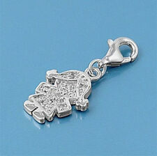 USA Seller Girl Charm For Add On to Bracelet Sterling Silver 925 Best Jewelry