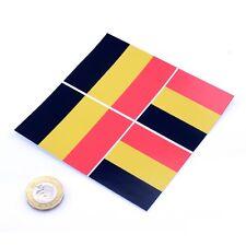 "Belgium Flag Stickers x4 3"" & 2"" Car Vinyl Rally Window Decals Drapeau Belgique"