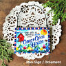 DECO MINI SIGN SKY BLUE OMA OPA HOUSE New Wood Ornament All Relatives here  USA