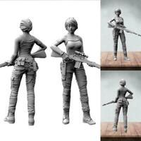 1PC 1/35 Unpainted Resin Figure Model Navy Seals Female Soldier Garage Kit A0M5