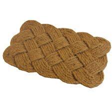 JVL Natural Hand Made Knotted Rope Coir Entrance Door Mat, 45 x 75 cm