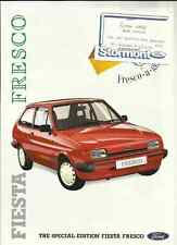 FORD FIESTA SPECIAL EDITION FRESCO SALES BROCHURE SEPTEMBER 1987 FOR 1988 MODEL