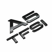 Gloss Black A5 TFSI Car Badge Emblem Numbers Letters For Audi A5 Models