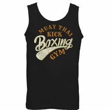Muay Thai Kick Boxing Gym Mens Martial Arts Vest MMA Top UFC Skull Boxer
