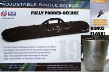 NWT/NEW BALLISTIC BLACK HIGH SIERRA S6114 ADJUSTABLE FULLY PADDED SINGLE SKI BAG